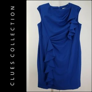 Clues Collection Woman Sleeveless Dress Size 16